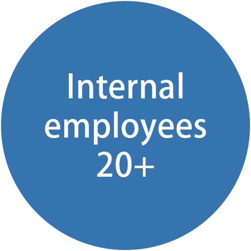 20 employees in-house