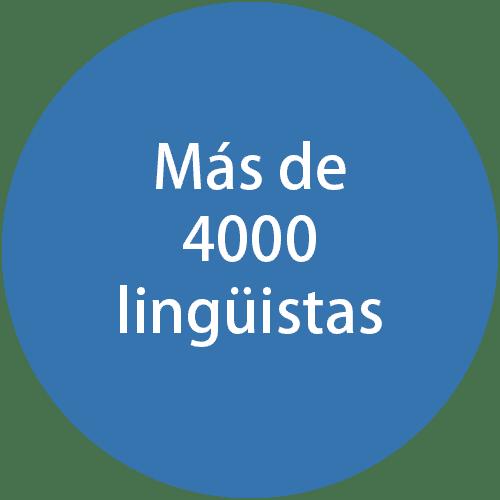Más de 4000 lingüistas