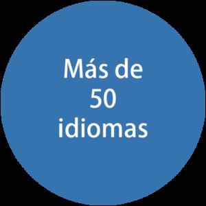 Más de 50 idiomas