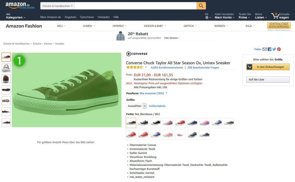 Amazon - Das Produktbild