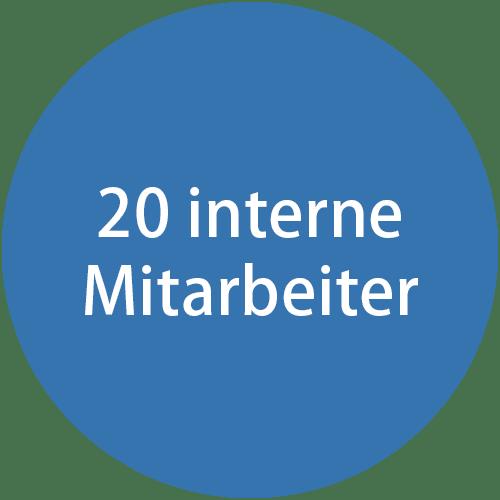 20 interne Mitarbeiter