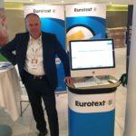 Eurotext-Messestand mit Peter Seltsam (CEO)